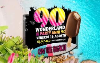 VENERDI' 16 AGOSTO 2019   SAND BEACH